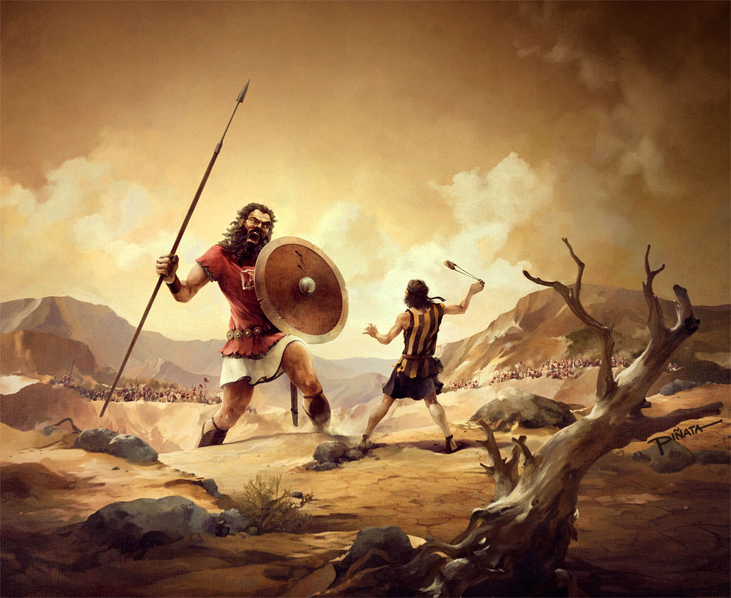 childrens Bible story of david goliath